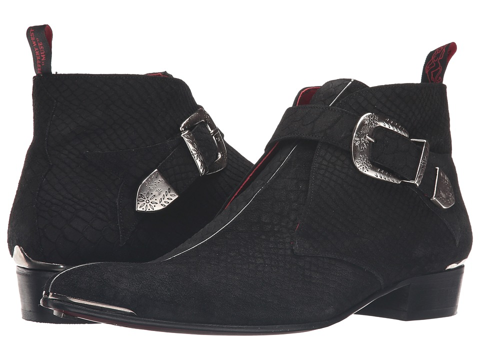 Jeffery-West - Monk Chukka (Black/Silver) Men's Shoes
