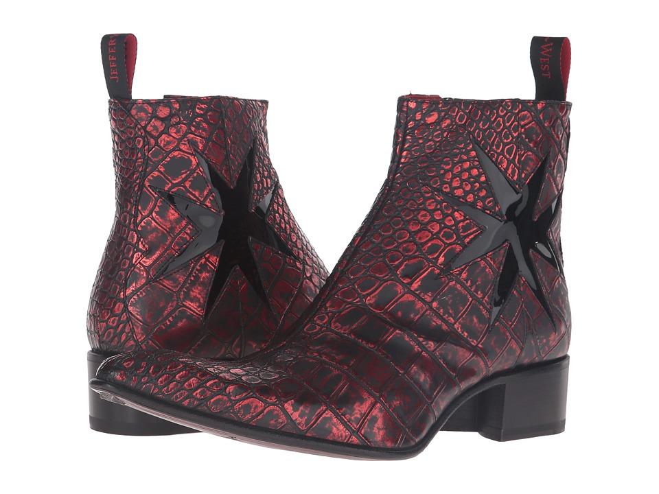 Jeffery-West - Crusader-Cross Zip (Red) Men's Shoes