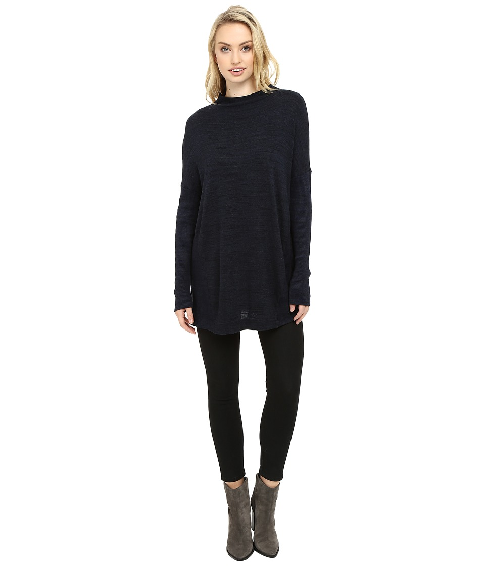 Three Dots - Margo - Oversized Pullover (Night Iris) Women's Clothing
