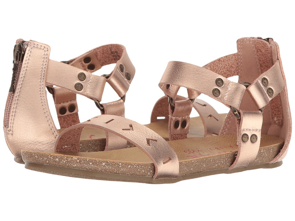 Blowfish Kids - Grabe-K (Little Kid/Big Kid) (Rose Gold Dyecut PU) Girl's Shoes