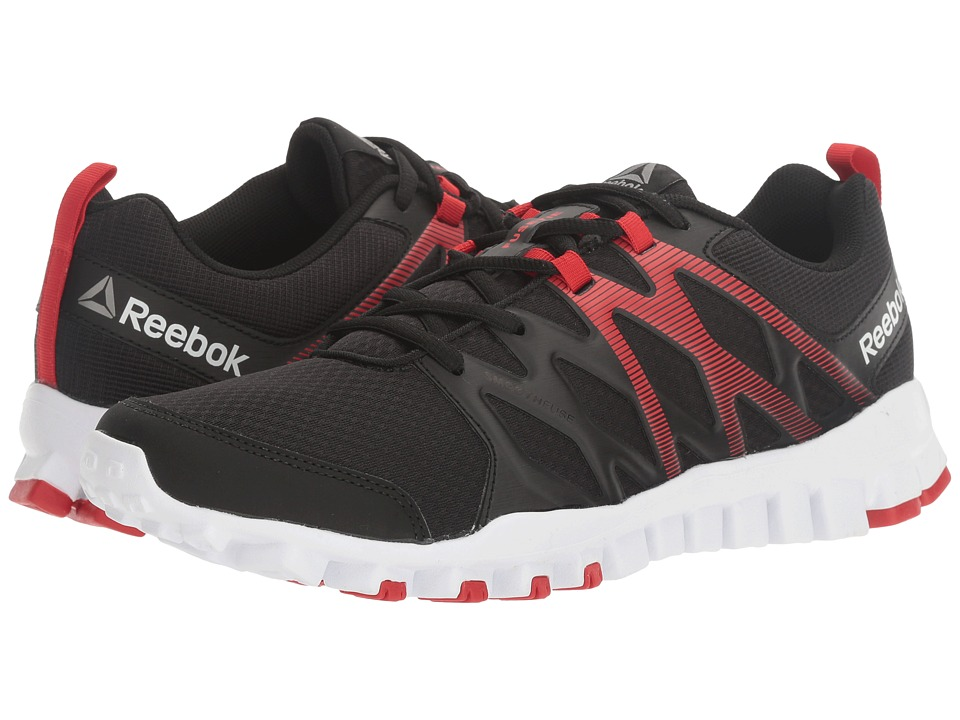 Reebok - RealFlex Train 4.0 (Black/Primal Red/White/Pewter) Men's Cross Training Shoes