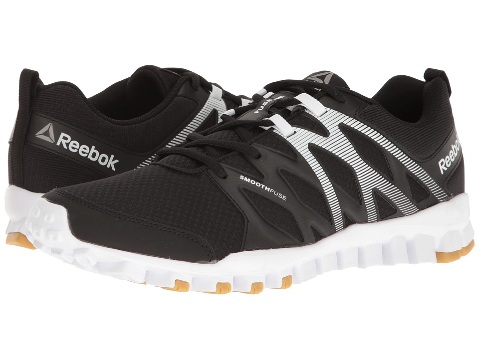 Reebok - RealFlex Train 4.0 (Black/White/Reebok Rubber Gum/Pewter) Men's Cross Training Shoes