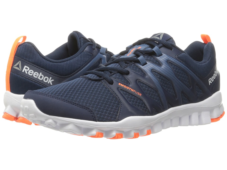 Reebok - RealFlex Train 4.0 (Collegiate Navy/Brave Blue/White/Wild Orange/Pewter) Men's Cross Training Shoes