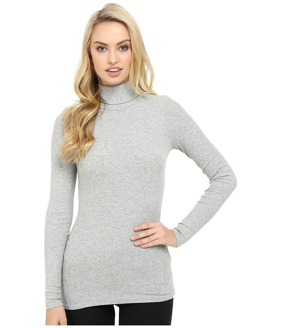 Three Dots - Long Sleeve Turtleneck (Granite) Women's Clothing