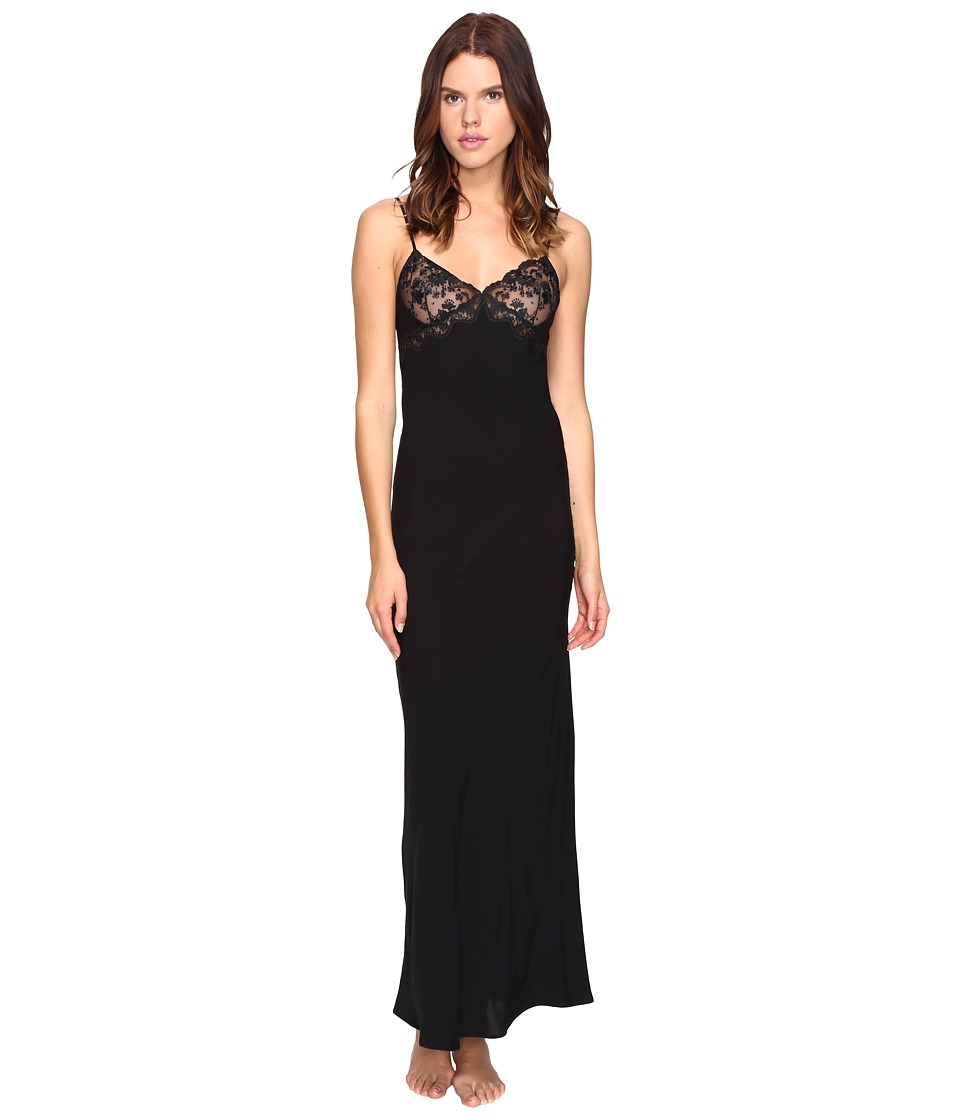 La Perla - Stolen Roses Night Gown (Black) Women's Pajama