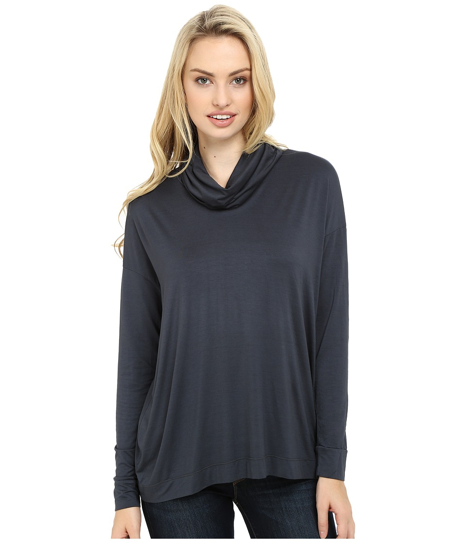 Three Dots - Shiri - Funnel Neck Swing Top (Cinder) Women's Clothing