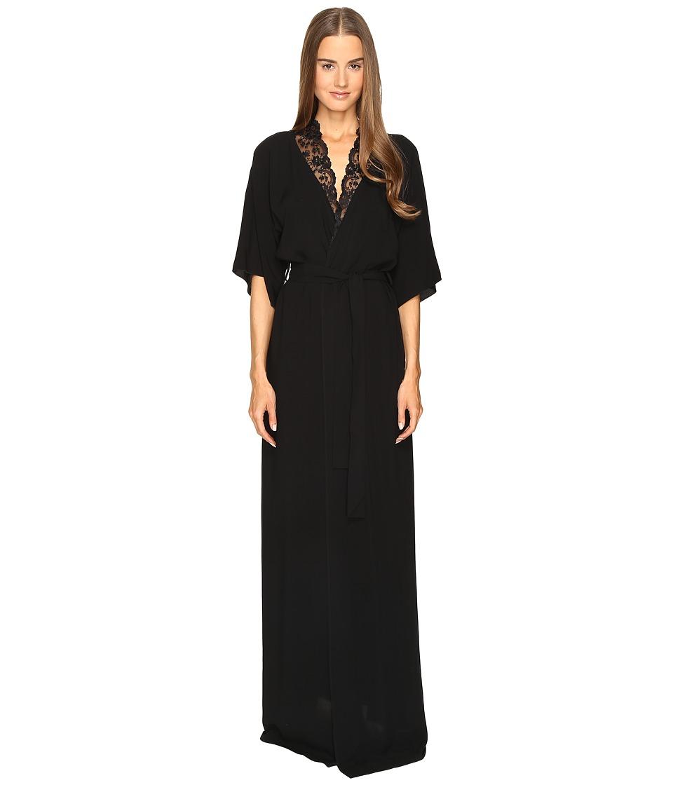 La Perla - Stolen Roses Robe (Black) Women's Robe