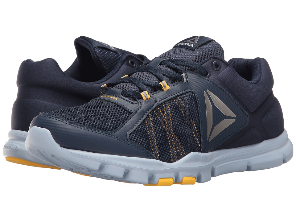 Reebok - Yourflex Train 9.0 MT (Collegiate Navy/Gable Grey/Retro Yellow/Pewter) Men's Cross Training Shoes