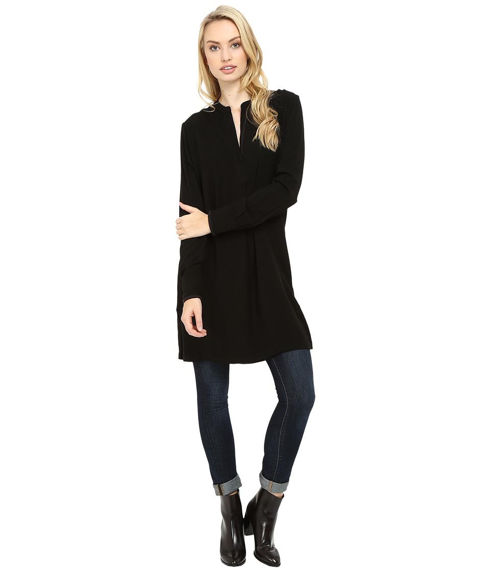 Three Dots Alessandra Oversized Tunic (Black) Women