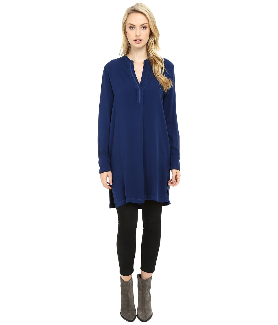 Three Dots - Alessandra - Oversized Tunic (Blue Depths) Women's Clothing