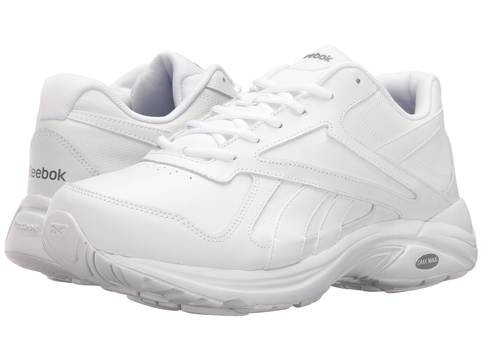 Reebok - Walk Ultra V DMX Max (White/Flat Grey) Men's Walking Shoes
