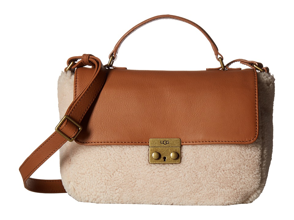 UGG - Vivenne Sheepskin Small Satchel (Chestnut/Natural) Satchel Handbags