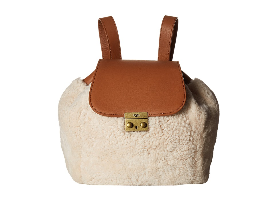 UGG - Vivenne Sheepskin Backpack (Chestnut/Natural) Backpack Bags