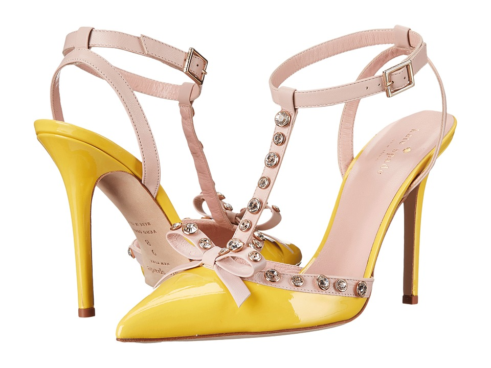 Kate Spade New York - Lydia (Lemon Yellow Patent Pale Pink Nappa) High Heels
