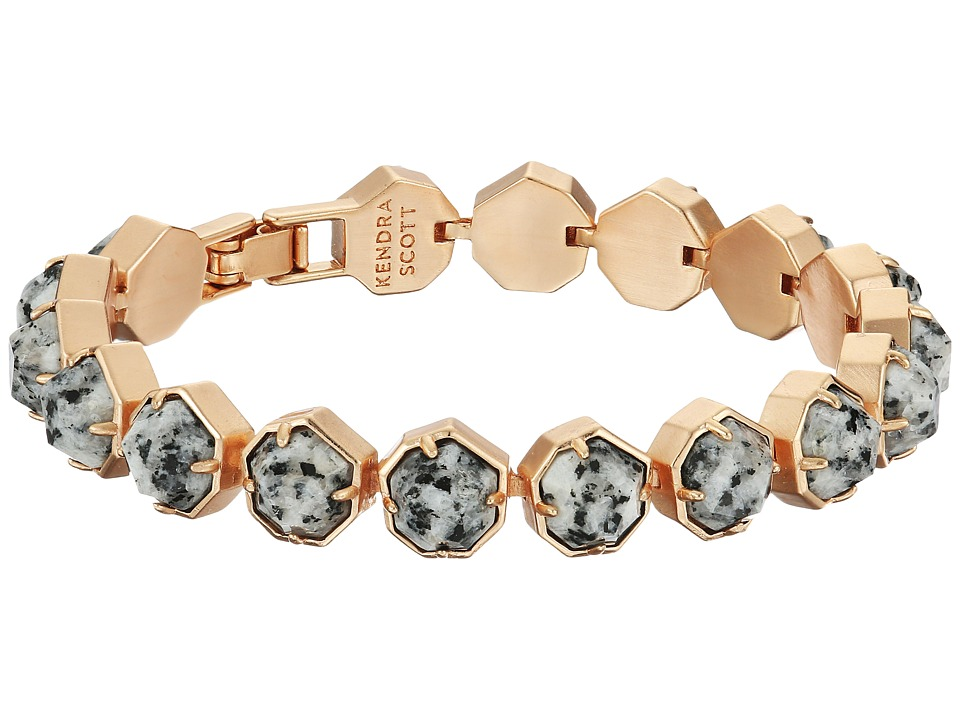 Kendra Scott - Lace Bracelet (Rose Gold/Gray Granite) Bracelet