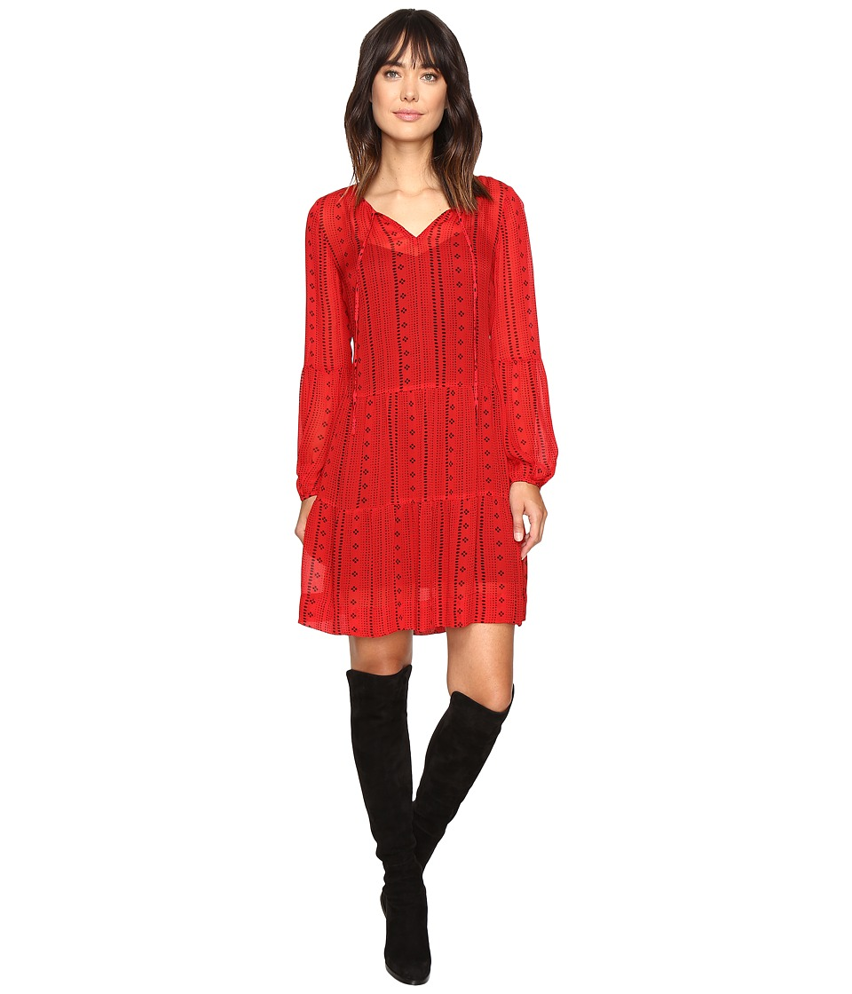 Sanctuary - Lana Dress (Red Boho) Women's Dress
