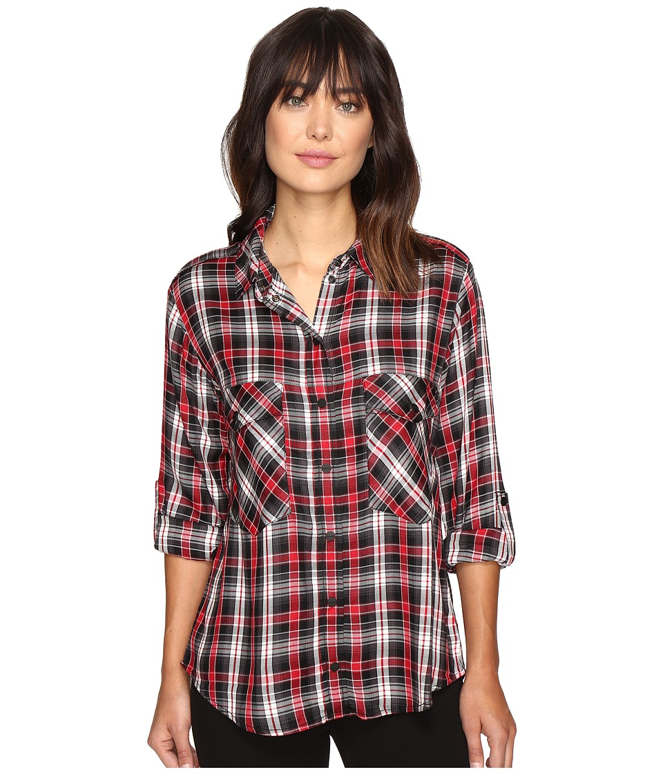 Sanctuary - Boyfriend Shirt (Jagger Plaid) Women's Clothing