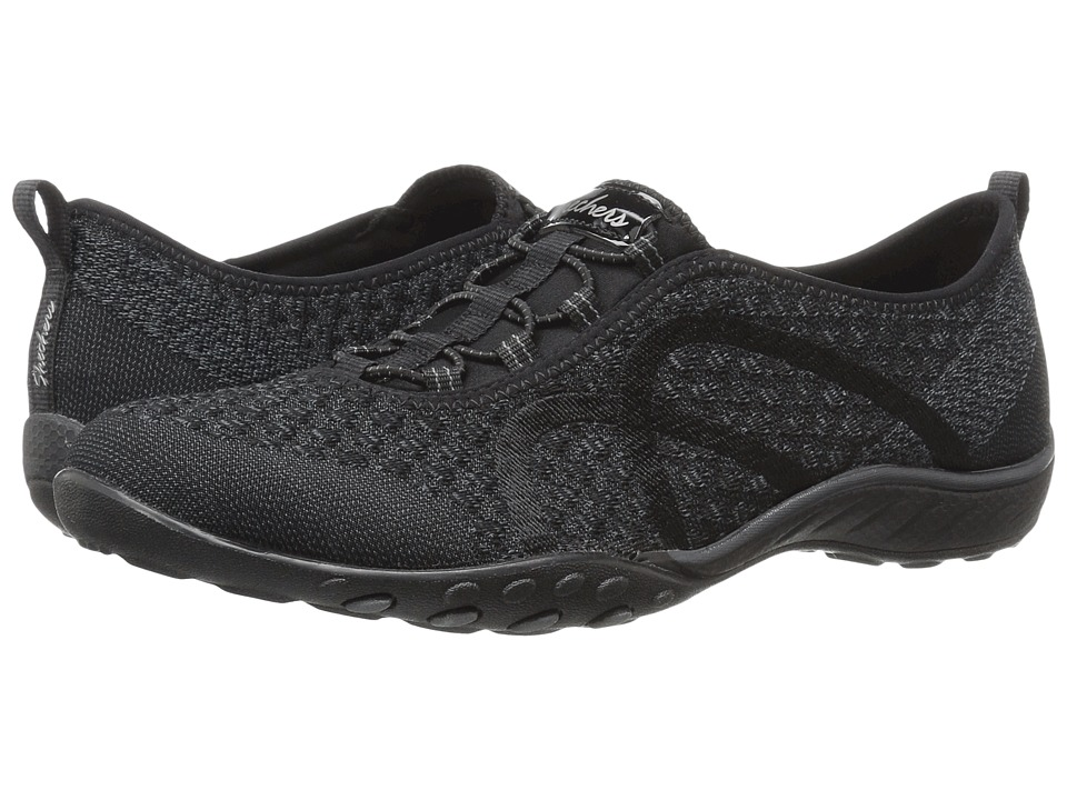 SKECHERS - Breathe-Easy - Fortuneknit (Black) Women's Shoes