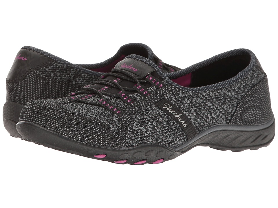 SKECHERS - Breathe-Easy - Dreamkeeper (Black/Pink) Women's Shoes