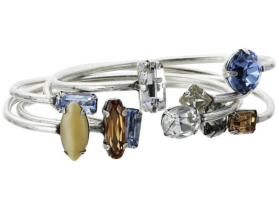 DANNIJO - ASTEROID Cuff Set (Ox Silver/Multi) Bracelet