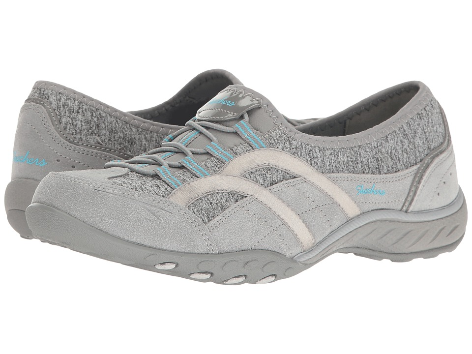 SKECHERS - Breathe-Easy - Must-Be-Magic (Gray) Women's Shoes