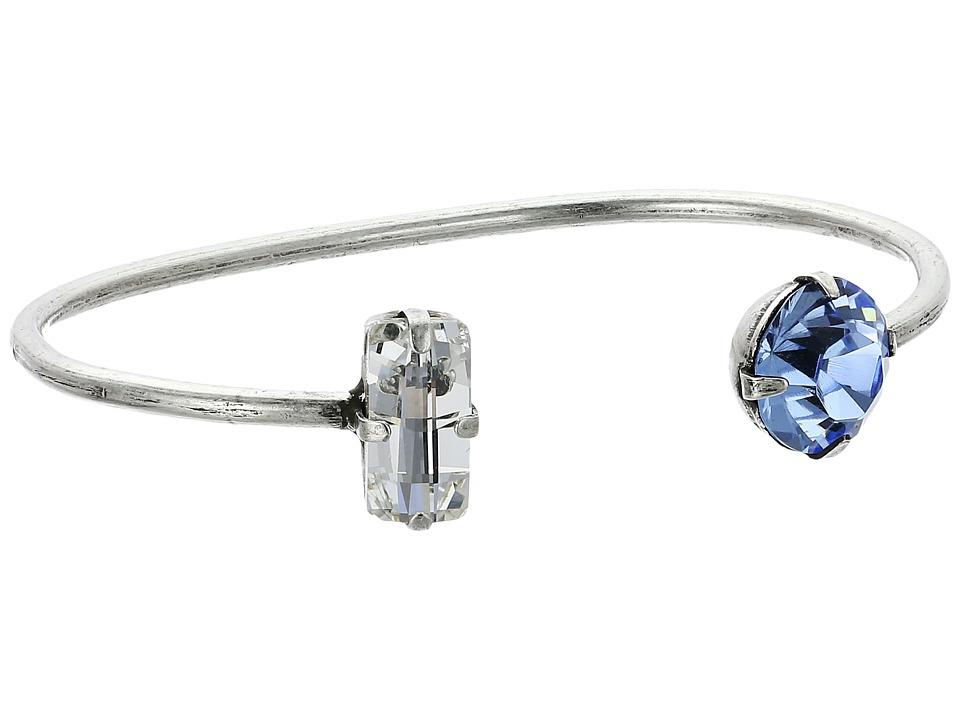 DANNIJO - AUDREY Bracelet (Ox Silver/Clear/Sapphire) Bracelet