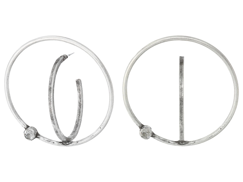 DANNIJO - AXIS Earrings (Ox Silver/Clear) Earring