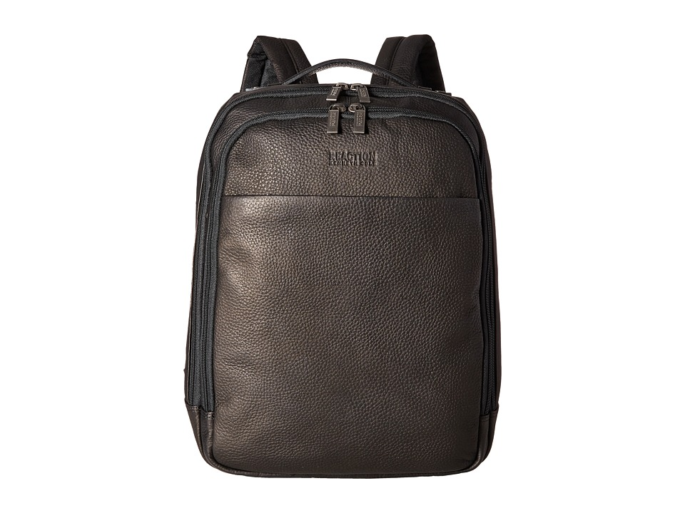 Kenneth Cole Reaction - The Modern Wolf Back- Computer Backpack (Black) Backpack Bags