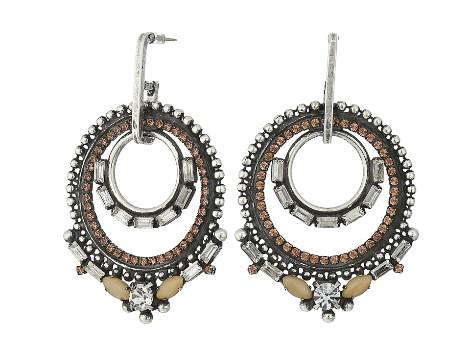 DANNIJO - CHANDRA Earrings (Ox Silver/Multi) Earring