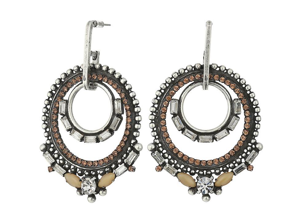 DANNIJO - CHANDRA Earrings (Ox Silver/Multi) Earring