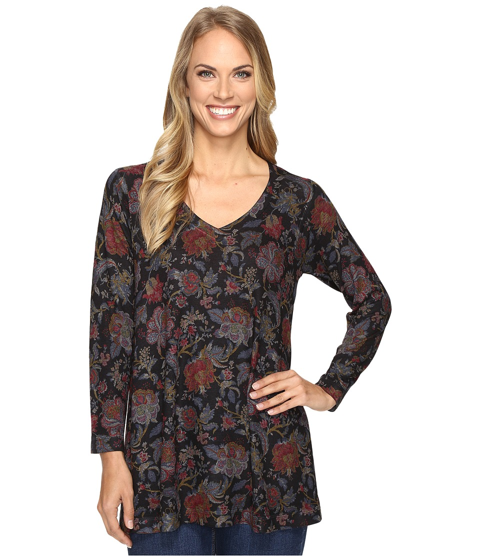 Nally & Millie - Floral Print V-Neck Tunic (Multi) Women's Blouse