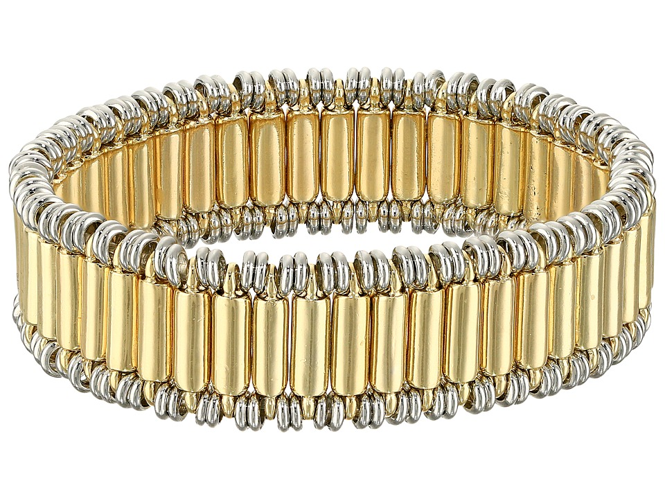 French Connection - Tube Stretch Bracelet (Silver/Gold) Bracelet