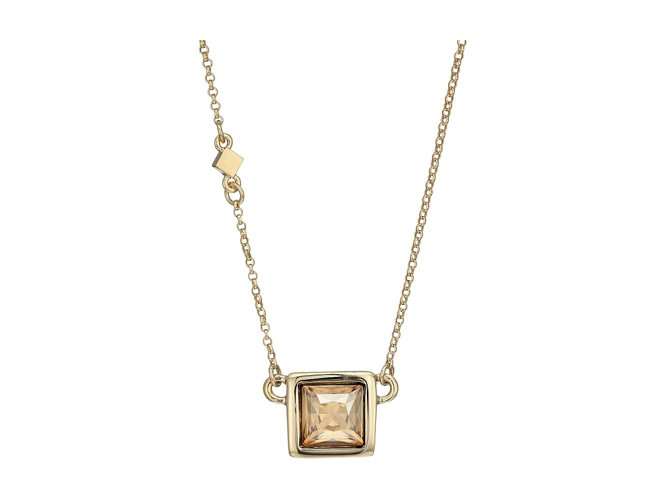 Cole Haan - Square Stone Necklace (Gold/Golden Shadow) Necklace