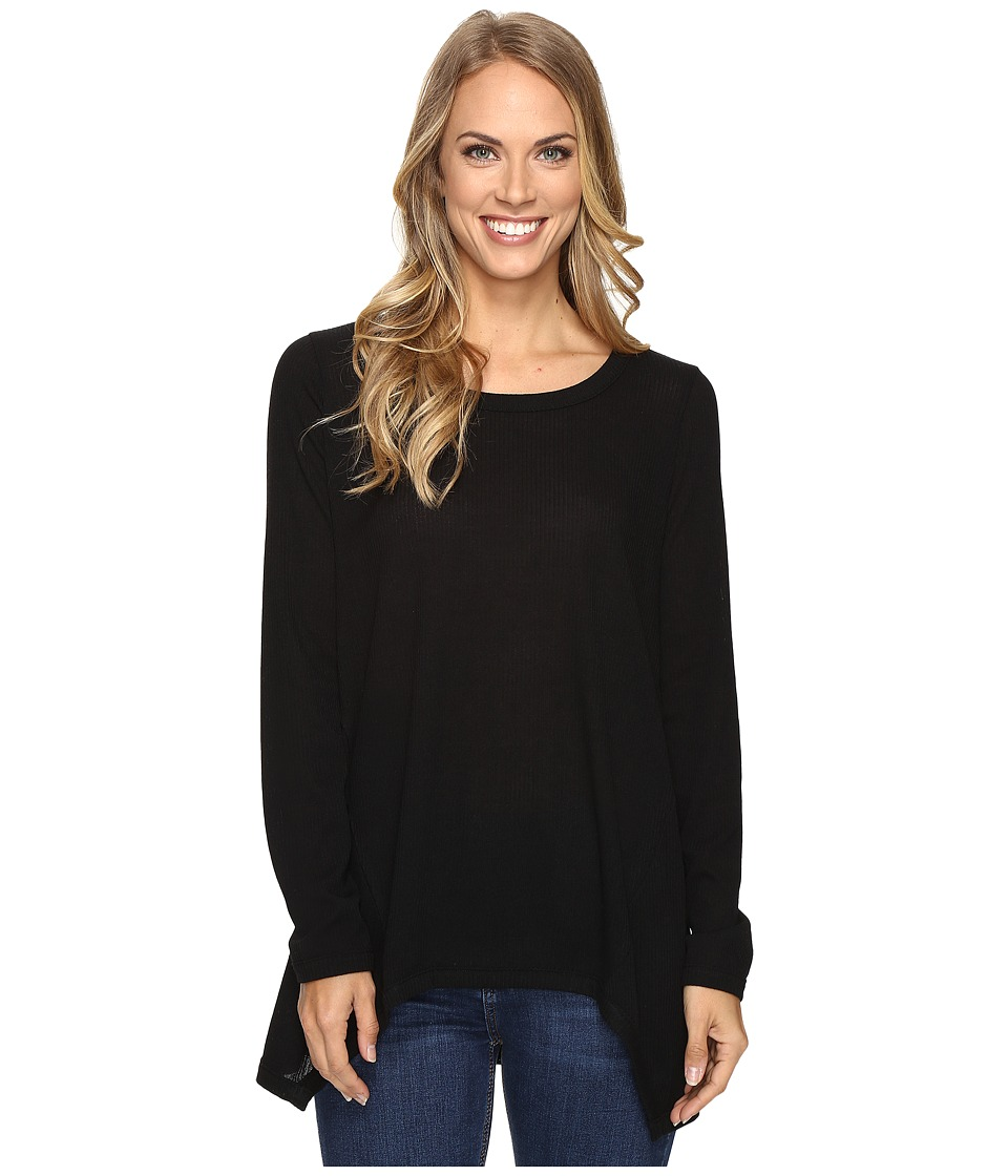 Nally & Millie - Long Sleeve Ribbed Sweater (Black) Women's Sweater