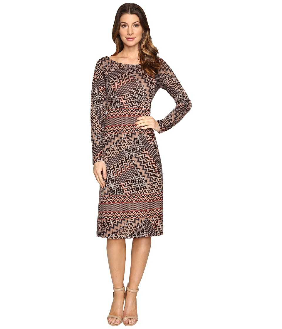 Nally & Millie - Chevron Print Dress (Multi) Women's Dress