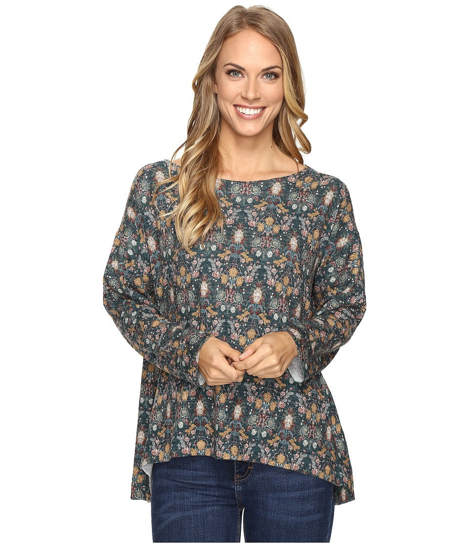 Nally & Millie - Printed Green Sweater Top (Multi) Women's Sweater