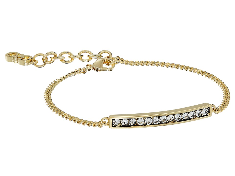 Cole Haan - Rounded Pave Bar Line Bracelet (Gold/Crystal) Bracelet