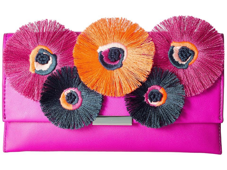 Loeffler Randall Tab Clutch (Azalea/Multi Floral) Clutch Handbags