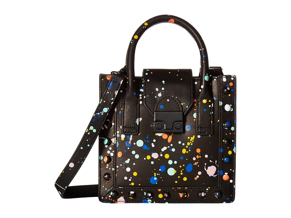 Loeffler Randall - Mini Work Tote (Black Multi Splatter) Tote Handbags