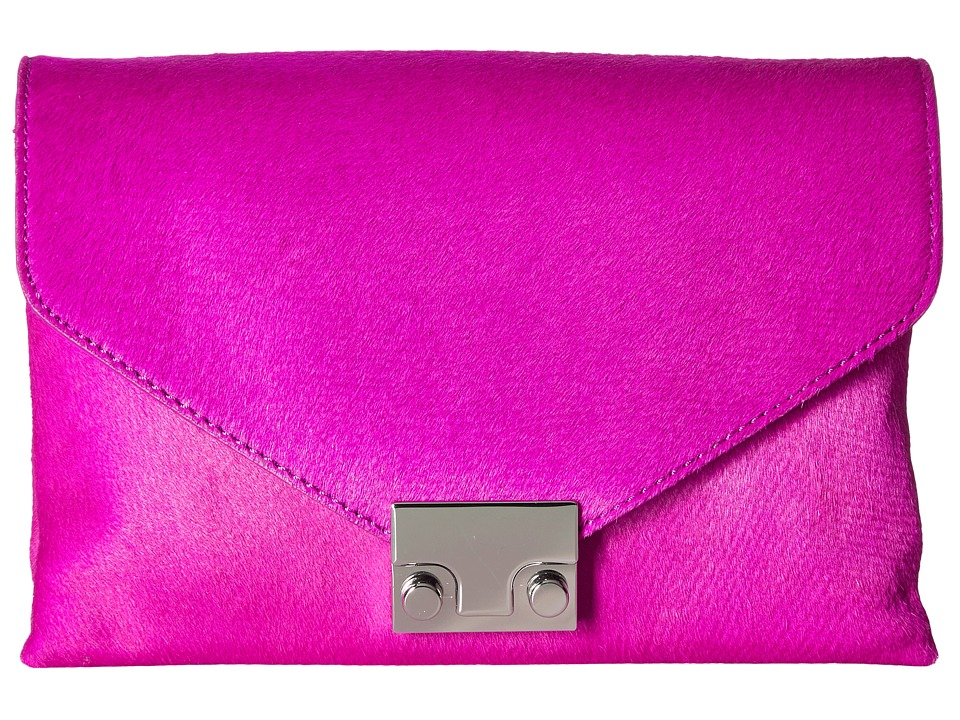 Loeffler Randall Junior Lock Clutch (Azalea) Clutch Handbags