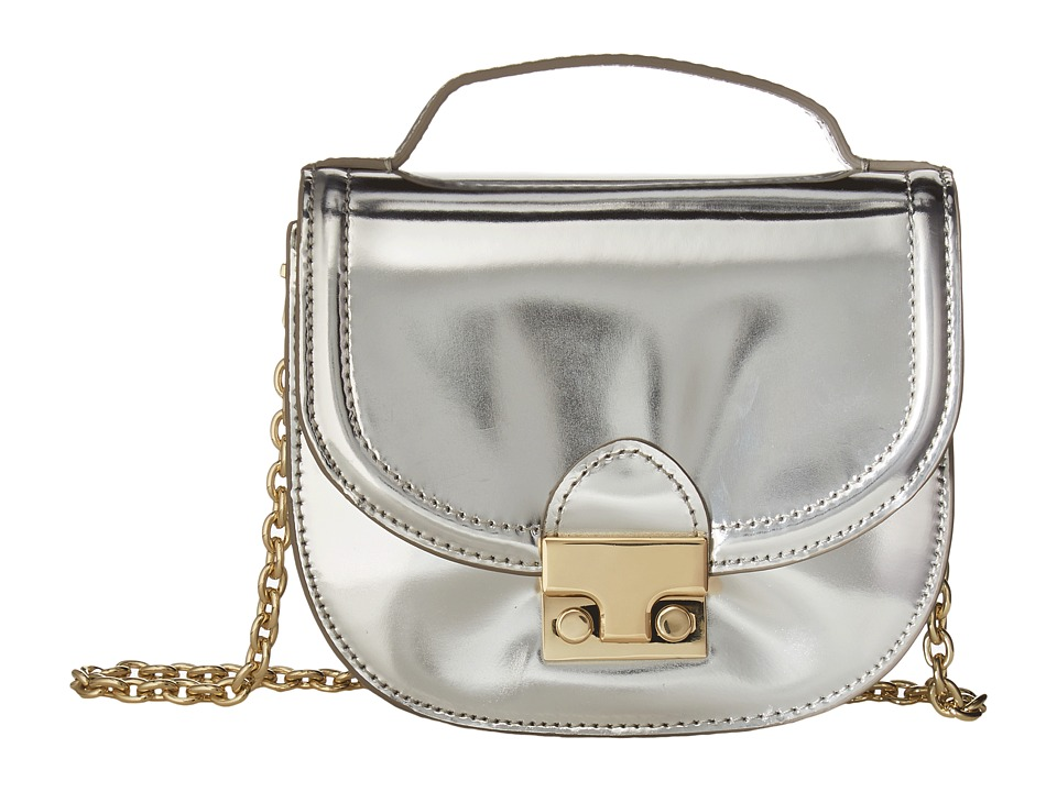 Loeffler Randall - Mini Saddle (Silver) Handbags