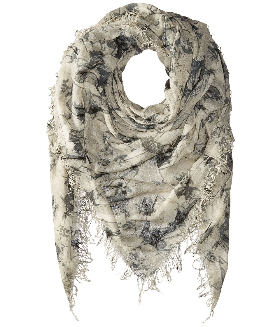 Chan Luu - Bow Print Cashmere Silk Scarf (Black Mix) Scarves