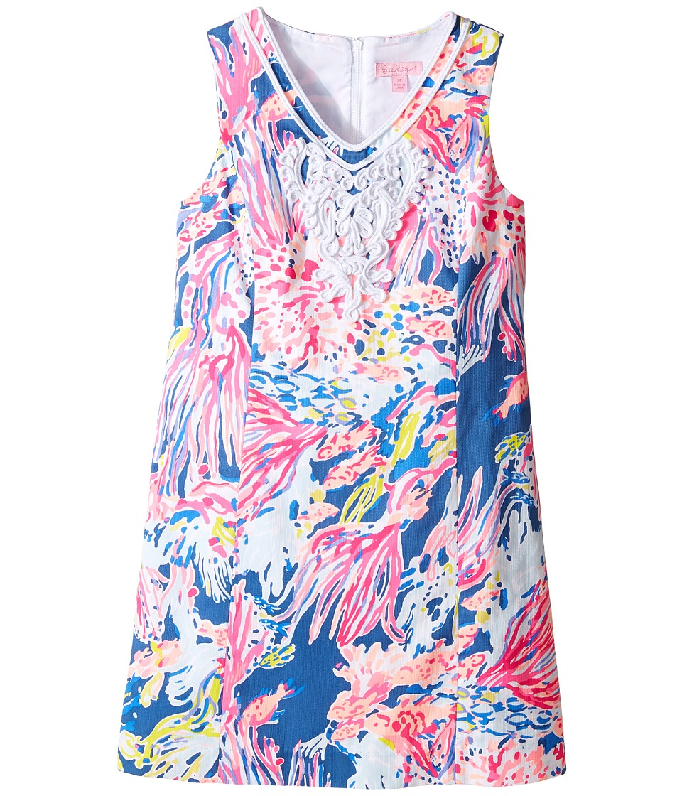 Lilly Pulitzer Kids - Mini Gabby Shift (Little Kids/Big Kids) (Indigo Sunken Treasure) Girl's Dress
