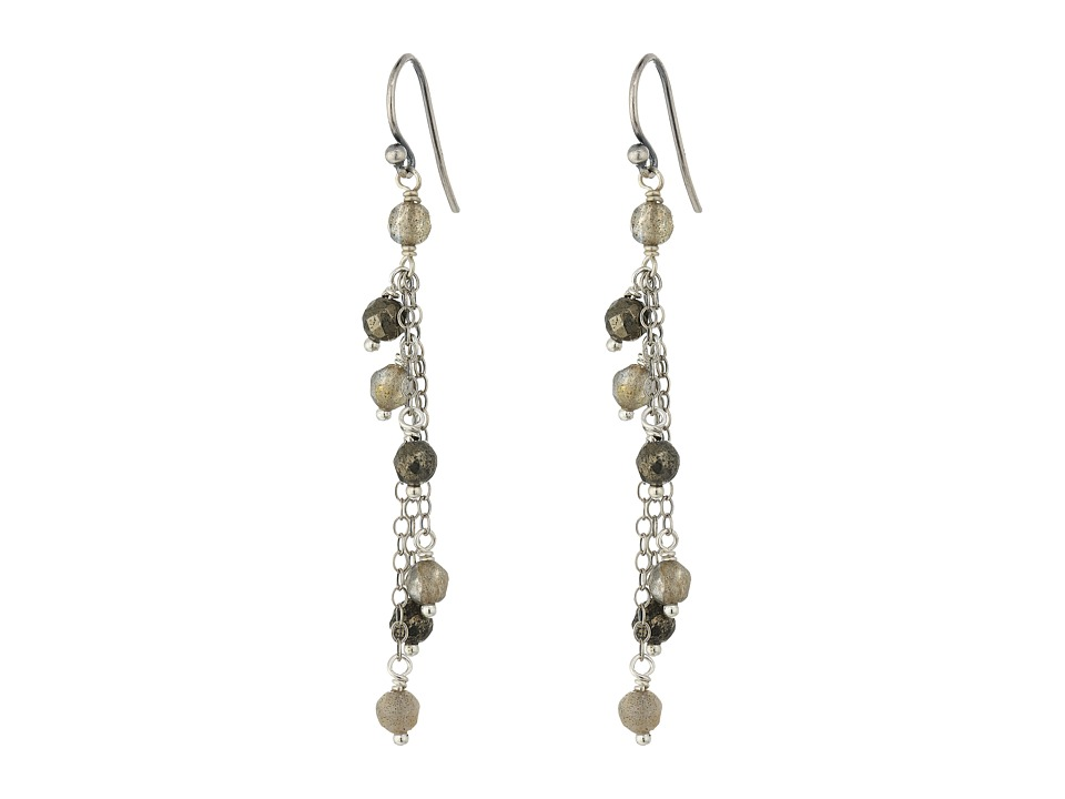 Chan Luu - Sterling Silver Ear Wires with Lab Stones Earrings (Labradorite) Earring