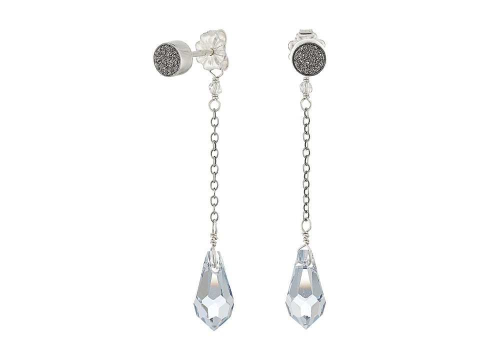 Chan Luu - Gunmetal Agate Stud Dangle Earrings (Gunmetal Agate) Earring