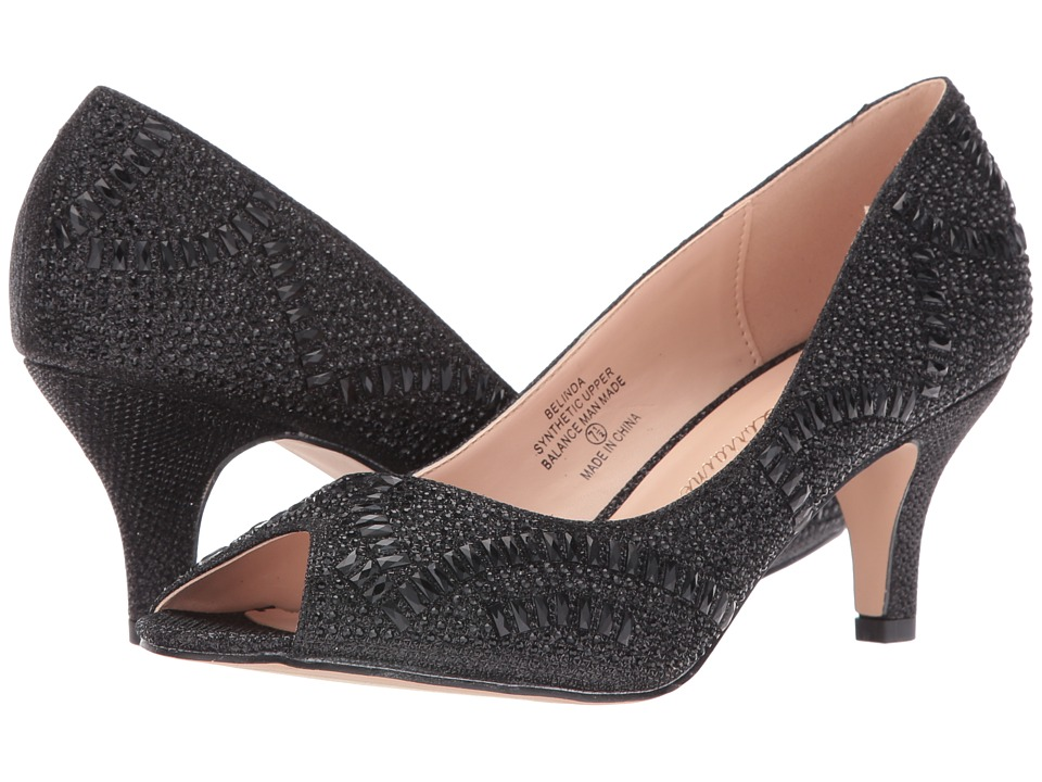 Lauren Lorraine - Belinda (Black) Women's 1-2 inch heel Shoes