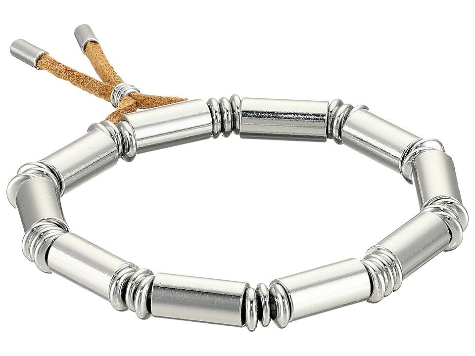 French Connection - Tube Stretch Bracelet (Silver) Bracelet