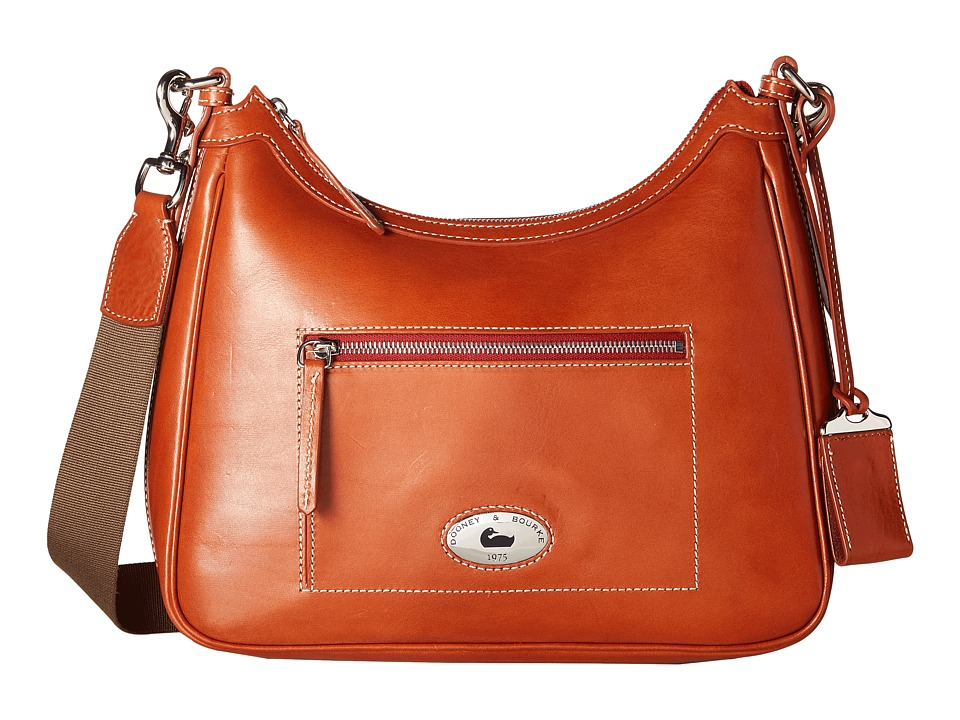 Dooney & Bourke - Florentine Large Crossbody Hobo (Ginger/Self Trim) Cross Body Handbags
