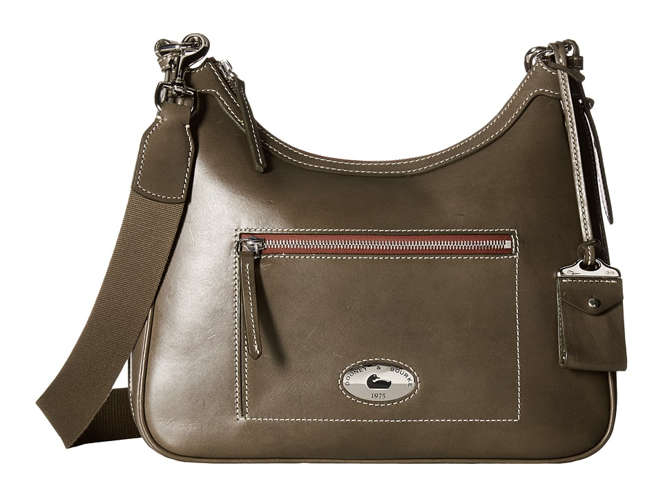 Dooney & Bourke - Florentine Large Crossbody Hobo (Elephant/Self Trim) Cross Body Handbags