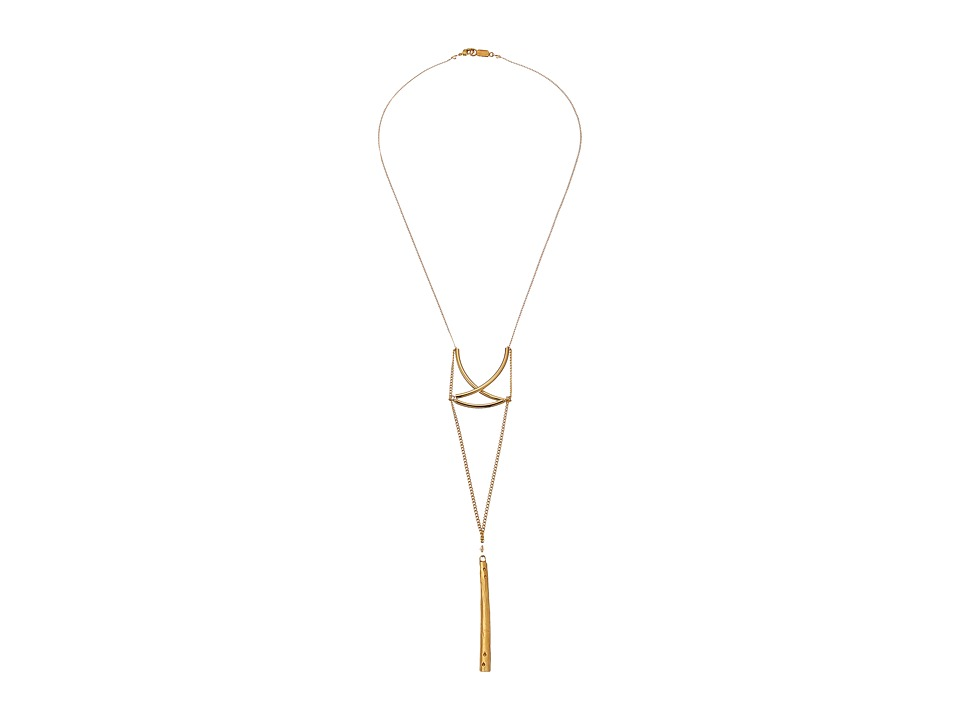 Chan Luu - 20' Bar Pendant Necklace with Sunflower Crystals (Gold Mix) Necklace